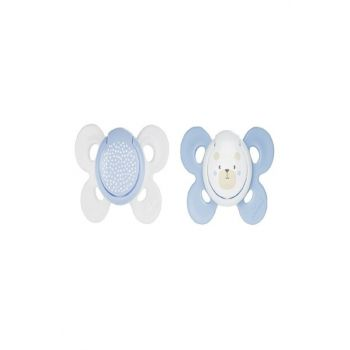 Physio Comfort Silicone Pacifier with 2-Month White-Blue 00074931210000