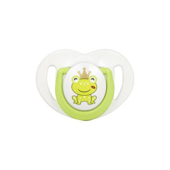 Single Patterned Pacifier & Colorful Storage Box 0 months + / Frog Prince MMJ3992