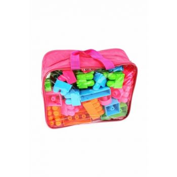 Large Size 50 Pieces Pink Lego Set with Bag 8698694703172