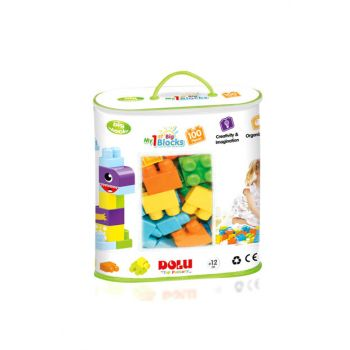 Filled Toy 5020 Large Blocks In Printed Bag 100 Pieces Toy / ERKVD02.5020