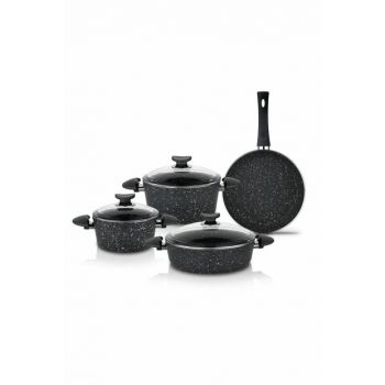 7 pcs. Harmonie Cookware Set - Black 14376