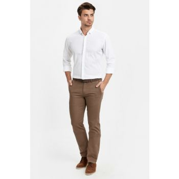 Men's Brown Trousers 8W1054Z8
