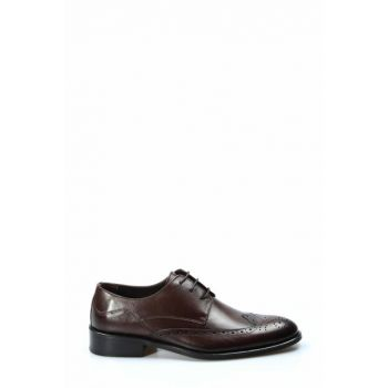 Genuine Leather Brown Men Classic Shoes 1850186