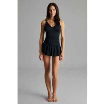 Black Basic Skirt Swimwear PLKGJIXY19IY-SYH