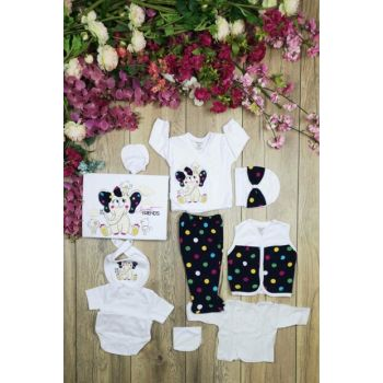 No Color Girl Silvery Elephant 10 Pieces Hospital Outlet Layette Set 14431
