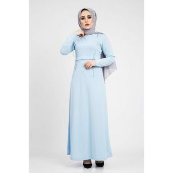 Women's Baby Blue Dress 01918YBELB19042