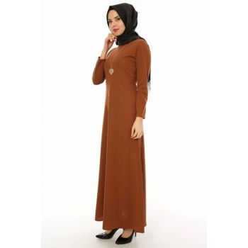 Women's Camel Dress 01917KBELB01043