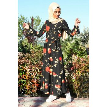 Women Orange Hijab Dress 1525BGD19_046