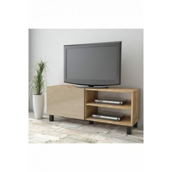 Aqua Tv Unit High Gloss 120cm 1 Cover Cappuccino AU1-A1B-C 1286067
