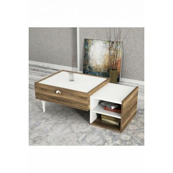 Exclusive Destina Coffee Table White-Walnut 8681506225139