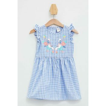 Baby Girl Plaid Ruffle Detailed Dress L7873A2.19HS.BE1