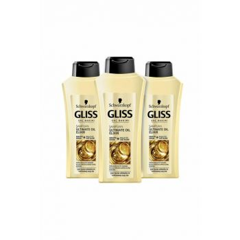 Ultimate Oil Elixir Shampoo 525 x3 SET.HNKL.114