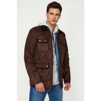 Men's Coffee Pocket Detailed Coat 9KAM21126NW 9KAM21126NW