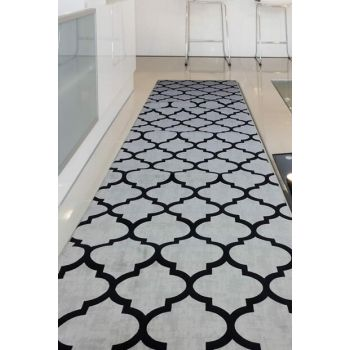 80X250 Carpet Lydian Gray Non Slip Sole Washable Cut Runner LydiaGrey-80X250