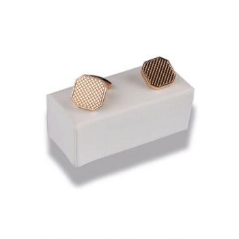 Gold Color Octagonal Cufflink KD380