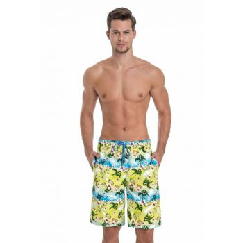 Men's Neon Micro Long Patterned Shorts E0618Y0019
