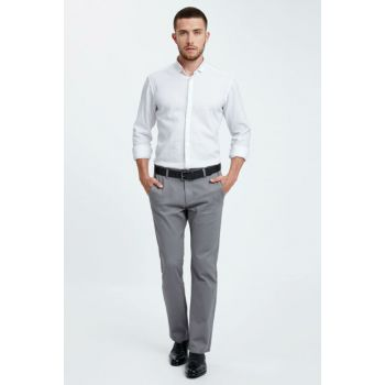 Men's Gray Trousers 8W1054Z8