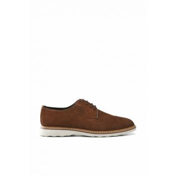 Men's Genuine Leather Cinnamon Shoes 02AYH133190A440