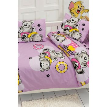 Baby Ranforce Majoli 100% Cotton Ranforce Duvet Cover Set Bambini