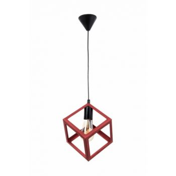Modern Design Cube Red Black Pendant Lamp Single Chandelier 0247