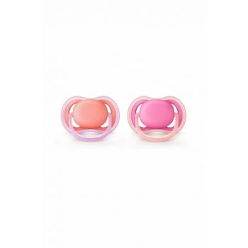 Ultra Air Baby Pacifier 0-6 Months Girl Pink 1006888
