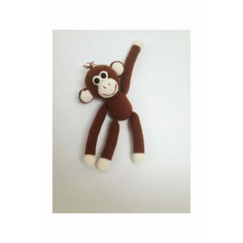 Playful Monkey Knitting Toy Brown / DML110020O