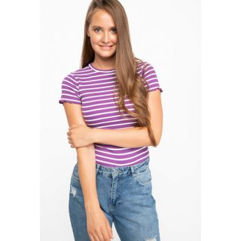 Women's Striped Short T-shirt J1666AZ.18AU.PR240