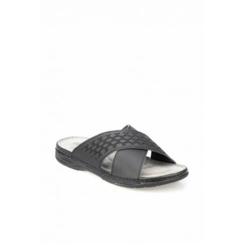 Black Men's Slippers 000000000100365855