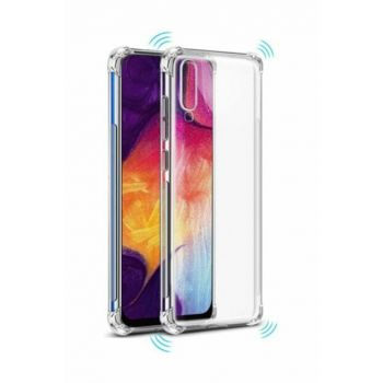 Rich Shop Samsung Galaxy A70 Ultra Thin Transparent Airbag Anti Shock Silicone Case - Transparent A70 TRANSPARENT