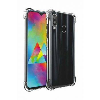 Rich Shop Samsung Galaxy M20 Ultra Thin Transparent Airbag Anti Shock Silicone Case - Transparent M20 TRANSPARENT