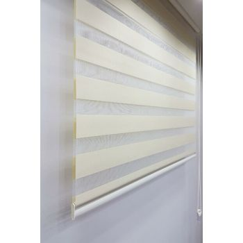 160 x 200 Roller Blind Zebra Curtain Cream MZ509 8605480581314