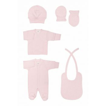 Organic Pink Hospital Outlet Set T_NEWBORNSET_10263