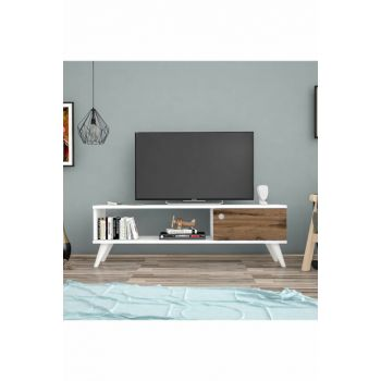 Bena Furniture Dolphin White Ciragan 120 Cm Tv Stand BENA120BC
