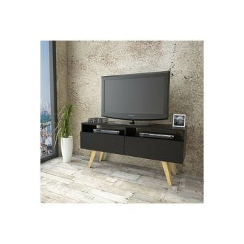 WN19 Solid Tv Unit with 2 Doors Pine Legs 2 Colors TY-1073825