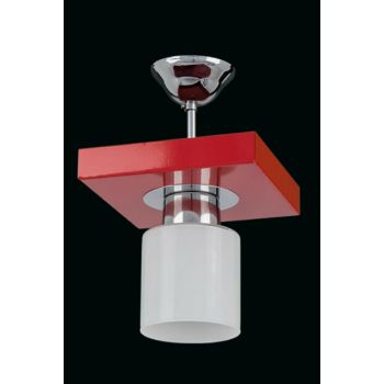 1015-1RED Square Red Modern Single Chandelier SNM1737
