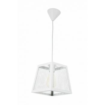 Honeycomb Taper Rustic Modern White Single Chandelier 0494