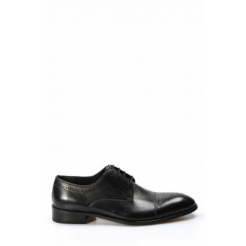 Genuine Leather Black Men Classic Shoes 1849946