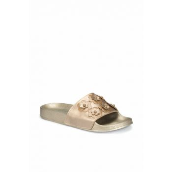 Women's Slippers with Gold Color 000000000100303170