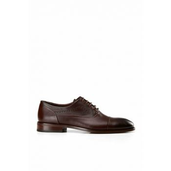 Genuine Leather Coffee Men Classic Shoes 02AYH138430A480