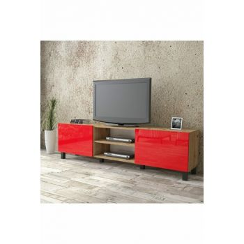 Aqua Tv Unit High Gloss 180cm 2 Cover Red AU4-A2B-RR 1286345