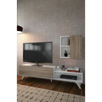Milas Tv Stand Gray Sonoma + White 030 0100 830 096 96