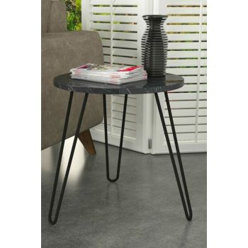 Beren Side Table with Metal Leg Marble 8681506226723