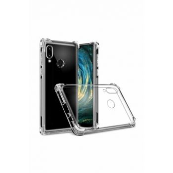 Rich Shop Huawei P20 Lite Case Ultra Thin Transparent Airbag Anti Shock Silicone - And Screen Protector P20LITEFEFFAF-CAM