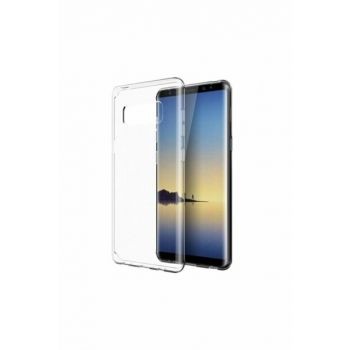 Galaxy Note 8 Ultra Thin Transparent Silicone Case with Dust Protection Stopper NOTE8-SY-145