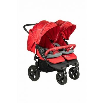 814 Sweety Twin Baby Stroller Red 353254-00010_R003