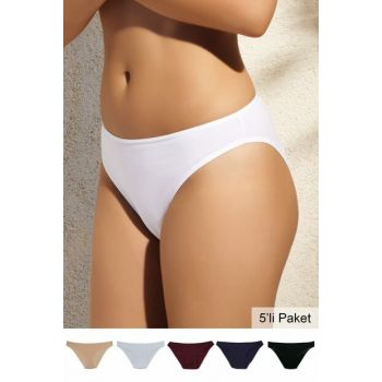 Women's Colorful 5-Piece Daily Slip Briefs
