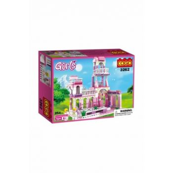 Cogo Princess Set Princess's Palace 254 Pieces Making Toy PRA-125783-9458