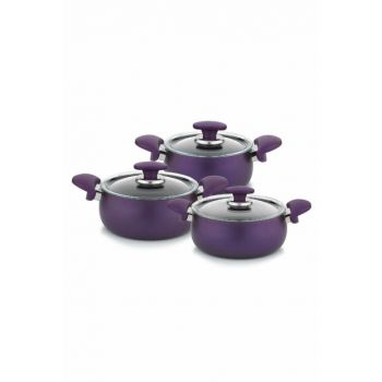 Schafer Milena Plus 6 Piece Granite Cookware Set - Purple 12384