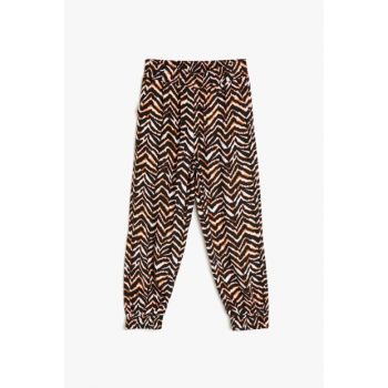 Black patterned girls pants 9YKG47748AW