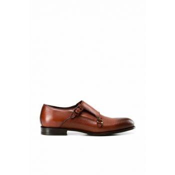 Genuine Leather Taba Men's Shoes 02AYH138570A370